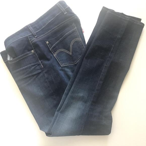 Levi's Denim - Levi's Curvy Jeans Dark Wash 529 Skinny Leg Sz 12M